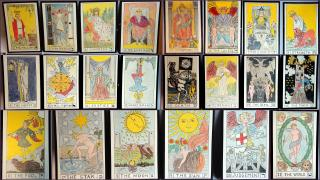 Original Art - A personal interpretation of Complete Trump Suit or Major Arcana including 22 Cards 1930s