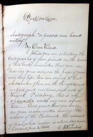 Commonplace Book of George W. Rich, Portland ME 1861 includes Gem photos and autographs of Friends. 1861.