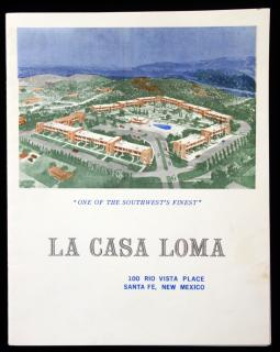 La Casa Loma Apartments Promotional Brochure Luxury Accommodations w 5 Floor Plans c1960.
