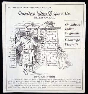 Onondaga Indian Wigwam Co. Indian Wigwams and Playsuits - Holiday Supplement to Catalogue No. 11.