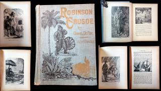Daniel DeFoe. The Illustrated Life and Strange Adventures of Robinson Crusoe Of York, Mariner, As Related by Himself . Thomspon & Thomas.Chicago, IL.1872