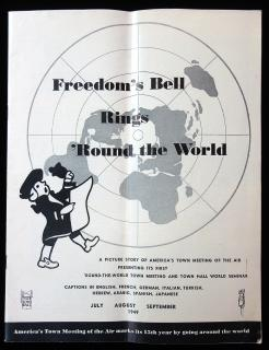 George V. Denny  America's Town Meeting of the Air - Freedom's Bell Rings 'Round the World. The International Press.New York City.1949