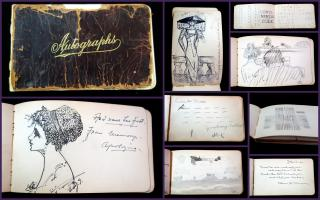 Friendship Album of Marie Campbell, Sentiments and Drawings; coded phrases, hidden letters, etc.. ..1907-1912