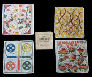 Complete Set -Children's Handkerchief Game Compendium. . .England.1940s