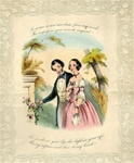 Quarto Handcolored  Lithograph Valentine