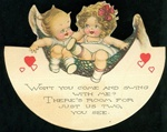 Kewpie w Valentine on Rocker