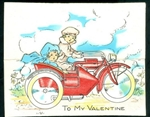 Motorcycle Side Car of Valentine Love
